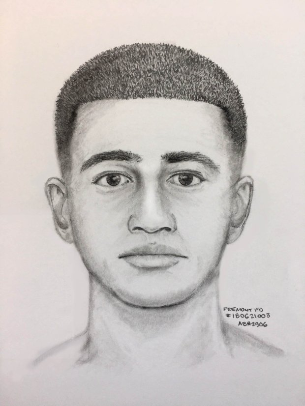 Fremont police shared this sketch Tuesday, June 26, 2018 of a suspect sought in connection with a June 21 residential robbery and indecent exposure case.