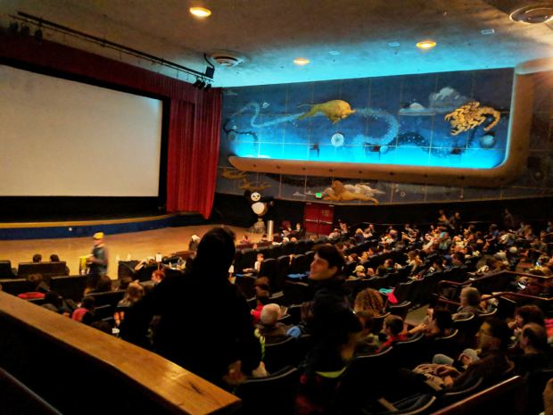 "The Rheem Theatre in Moraga reopened June 14 to a sellout crowd that gathered to watch the premiere of the Disney and Pixar animated blockbuster, ""Incredibles 2."" (Courtesy of Josh Caudle)"