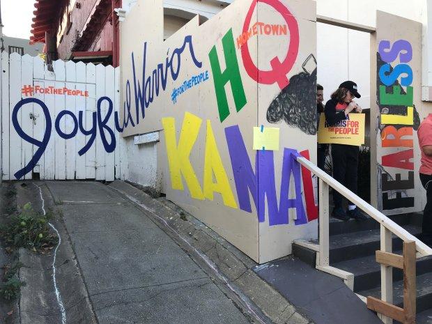 Warm Crowd Helps Kamala Harris Open Hometown Campaign Office
