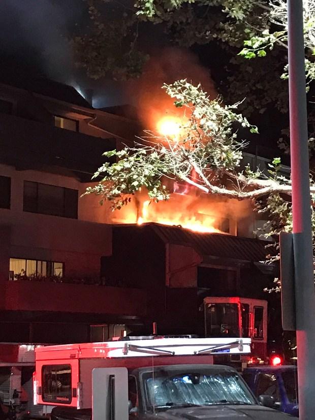 Oakland: Crews battle fire at Jack London Square condominium