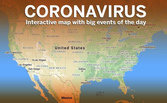 Coronavirus real-time map shows worldwide spread of virus – East ...