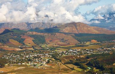 Winelands Package Franschhoek Ariel View
