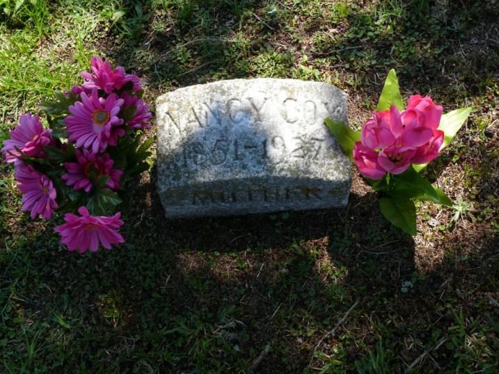 Grave of Nancy Watson Cox in Kinston, North Carolina