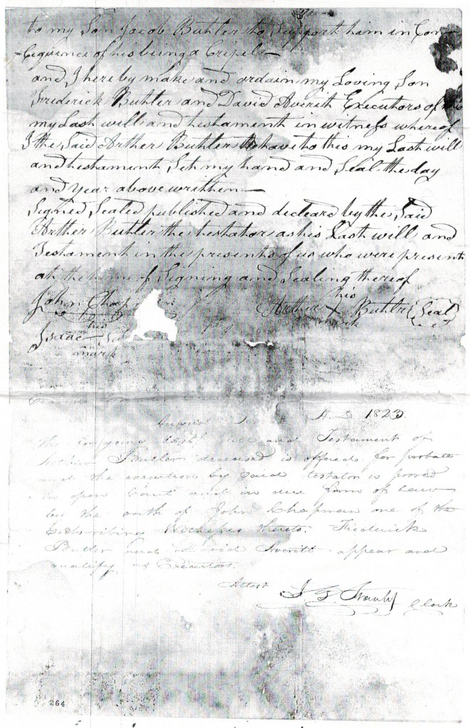 Will of Arthur Butler, Craven County - 1823 p3