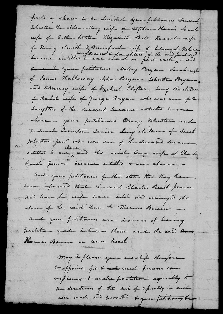 Petition by heirs of Jacob Johnson of Craven County - p2