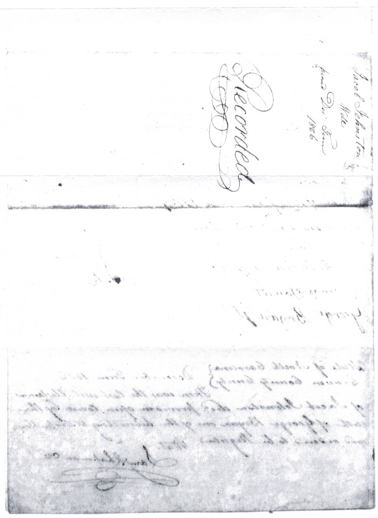 Jacob Johnson will, 1806 - p4