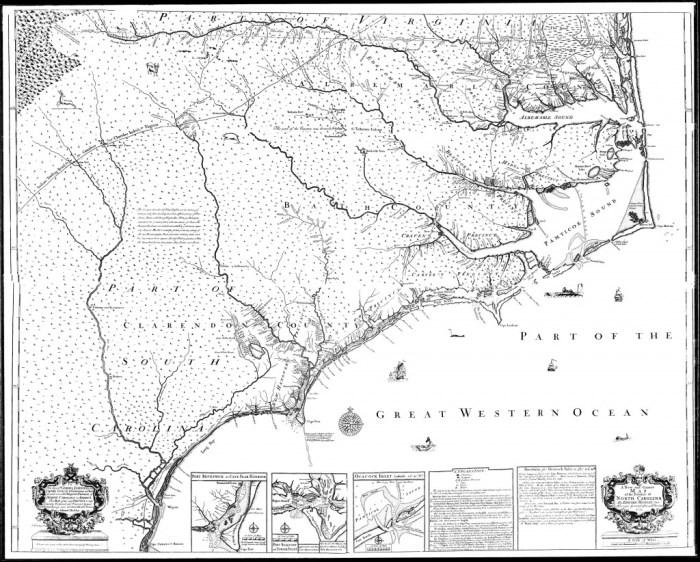 Moseley Map - 1733 - (Large)