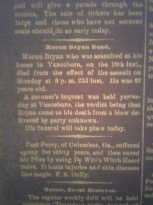 MaconBryan_NewBernDailyJournal_Jan25_1899