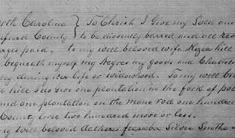 Will of John Hill (1801) – Beaufort County