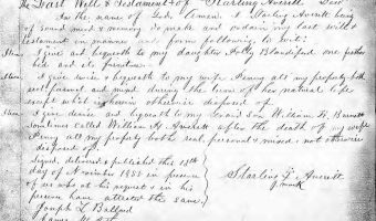 Will of Starling Averitt (1855) – Pitt County