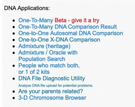 DNA Applications