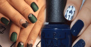 classy nail art design short