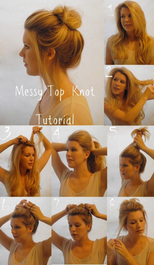 messy bun hairstyle: step by step tutorial – east coast