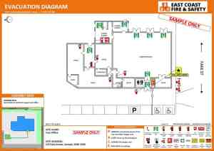 Eye Catching Evacuation Diagrams | East Coast Fire & Safety