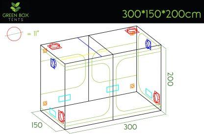 Green Box Tent 300x150x200 1