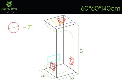 Green Box Tent 60x60x140 3