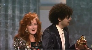 Bonnie Raitt and Don Was receive GRAMMY awards for Album of the Year - Photo courtesy CBS