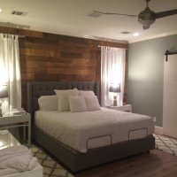 DIY Reclaimed Wood Accent Wall Brown Waxed and Sealed 5.5 ...