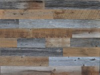 DIY Reclaimed Wood Accent Wall Grey and Brown Natural 3.5 ...
