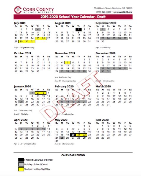 ccsd 2019 20 calendar proposal