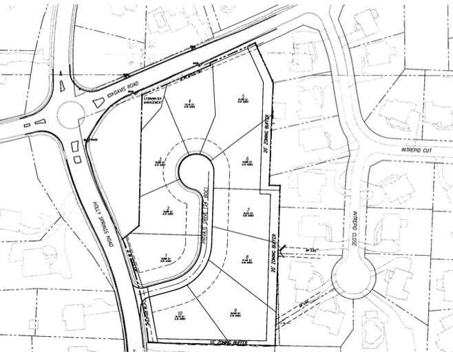 Revised Holly Springs Road senior living proposal reduces