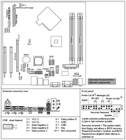 Informationen zum Fujitsu-Siemens-Mainboard D2312
