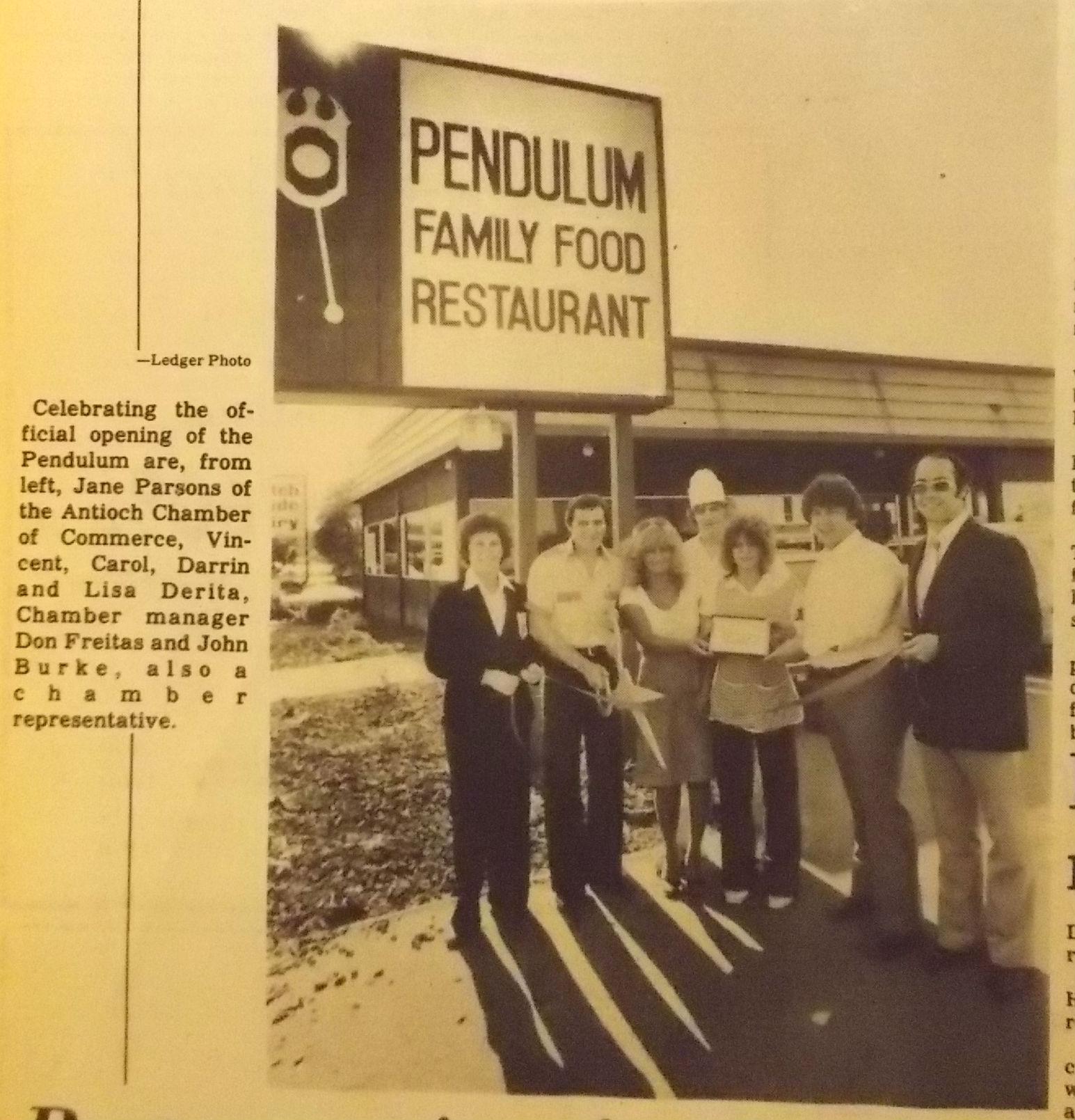 Pendulum Restaurant Fall 1979