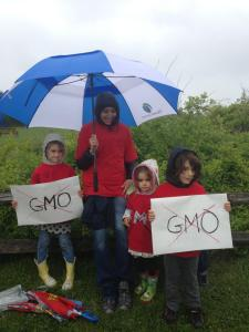 These unidentified wet marchers protested in Montauk on May 25. facebook photo