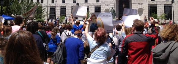 East End women rallied in Albany Tuesday | courtesy Jennifer Maertz