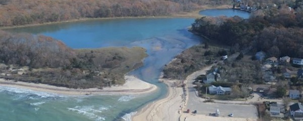 The entrance to Goldsmith Inlet in Peconic | Courtesy Group to Save Goldsmith Inlet