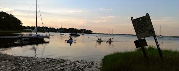 Kayaking on Red Creek. Hampton Bays, Saturday night.