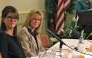 Southampton Town Supervisor Anna Throne-Holst and her challenger, former Town Supervisor Linda Kabot listen up for the next question.
