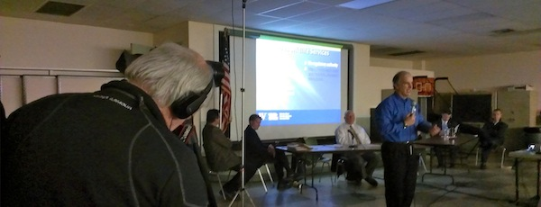 USDA Wildlife Services New York Director Martin Lowney at Southold's meeting.
