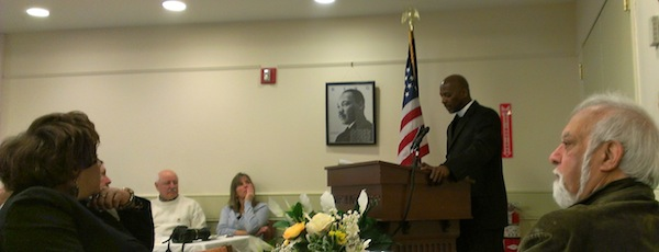 Rev. Kirk Lyons at Monday's breakfast in Southampton