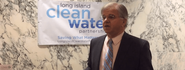 State Assemblyman Fred Thiele discusses the need for a clean water bill in Albany Tuesday   Courtesy Long Island Clean Water Partnership
