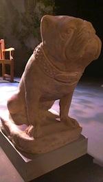 Rocky the stone dog has feelings too.