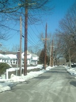 Jeff Williams' photograph of McGuirk Street taken Feb. 7 for Save EH's Facebook page.