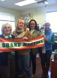 The crew from the Ama-O-Gansett School