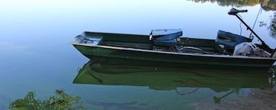 Marratooka Pond in Mattituck during last summer's blue-green algae bloom.