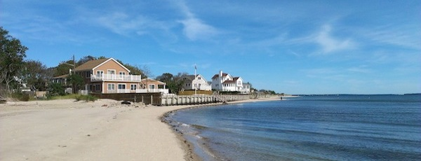 The Peconic Bay, pictured here in South Jamesport, is full of water. This is proving to be a problem as Long Island's nitrate-enriched groundwater seeps out into the bay, causing algae blooms and hurting salt marsh and eelgrass habitat.