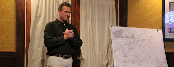 Riverhead Town Supervisor Sean Walter discussed the subdivision of EPCAL at a debate last October.