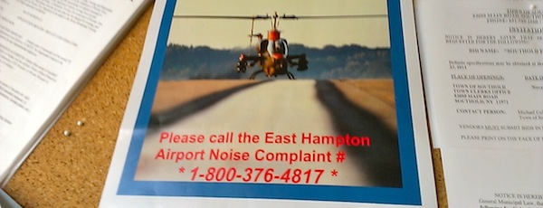 Community groups on both forks are urging residents to call in noise complaints to the East Hampton Airport.