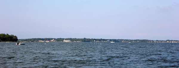 The view from Founders Landing in Southold.