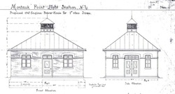 Architectural drawings for the building that will house the museum.