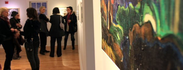 "East End Arts' ""Abstract and Almost Abstract"" juried show opened Friday night."