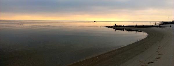 sunset New Suffolk Beach