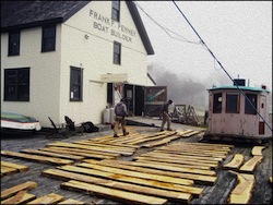 Photo of the Penney Boat Shop courtesy of David Swenson and the Long Island Maritime Museum.