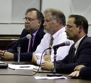 Environmental Advocates Bill Toedter, John Turner and Bob DeLuca gave testimony Monday.