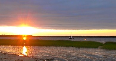 Sunset, Flanders Bay