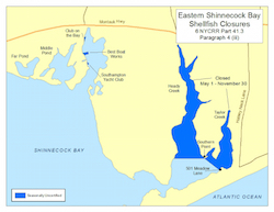 East Shinnecock Bay seasonal closure